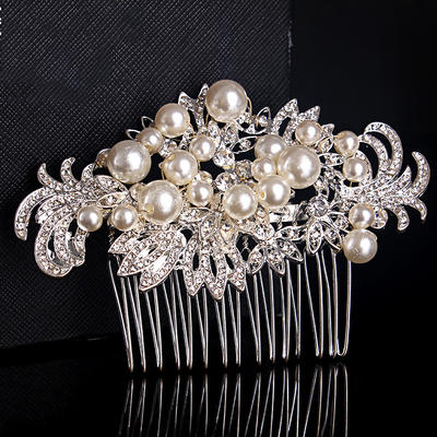 Combs & Barrettes Wedding/Special Occasion/Casual/Outdoor/Party Rhinestone/Alloy/Imitation Pearls Beautiful Ladies Headpieces (042157218)