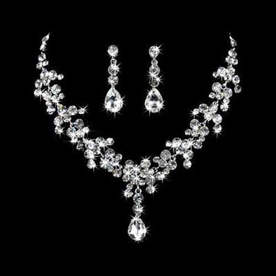 Jewelry Sets Alloy Rhinestone Lobster Clasp Pierced Wedding & Party Jewelry (011160447)