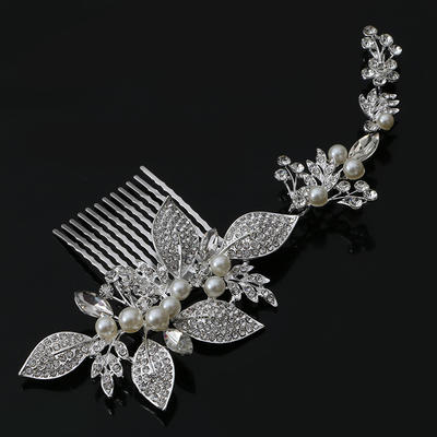 """Combs & Barrettes Wedding/Special Occasion/Party Rhinestone/Alloy/Imitation Pearls 7.87""""(Approx.20cm) 3.15""""(Approx.8cm) Headpieces (042156764)"""