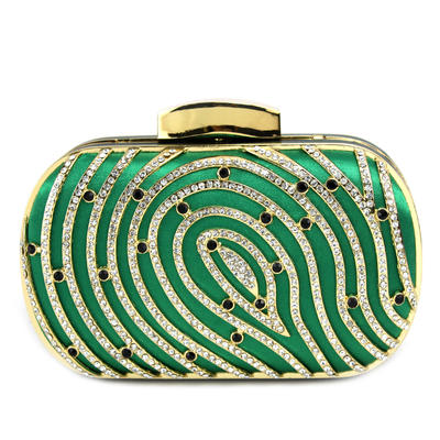 Clutches Wedding/Ceremony & Party Silk Clip Closure Shining Clutches & Evening Bags (012185136)