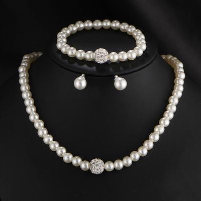 Schmuck Sets Faux-Perlen Karabiner Durchbohrt Damen Hochzeits- & Partyschmuck (011168058)