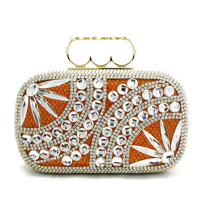 Clutches Wedding/Ceremony & Party Composites Push-lock frame closure Elegant Clutches & Evening Bags (012187939)