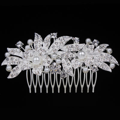 """Combs & Barrettes Wedding/Special Occasion/Casual/Outdoor/Party Alloy 3.94""""(Approx.10cm) 2.09""""(Approx.5.3cm) Headpieces (042156939)"""