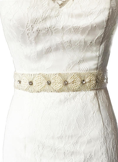 Women Satin With Rhinestones Sash Stylish Sashes & Belts (015191116)