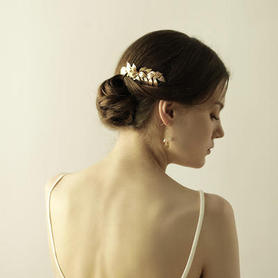 """Combs & Barrettes Wedding/Special Occasion/Party Alloy 3.94""""(Approx.10cm) 2.56""""(Approx.6.5cm) Headpieces (042159137)"""