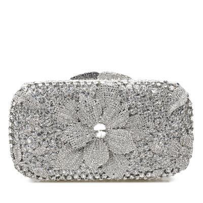Clutches/Bridal Purse/Luxury Clutches Wedding/Ceremony & Party Crystal/ Rhinestone Magnetic Closure Shining Clutches & Evening Bags (012185850)