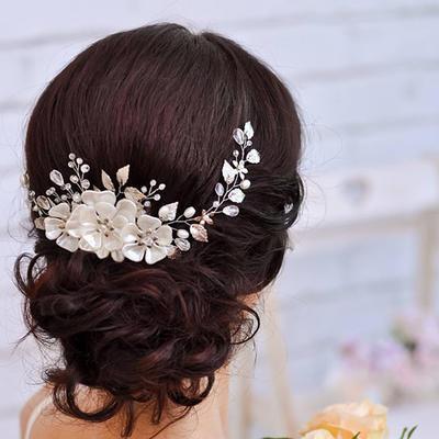"Headbands Wedding/Special Occasion Rhinestone/Alloy/Imitation Pearls 14.57 ""(Approx.37cm) 2.76""(Approx.7cm) Headpieces (042159349)"