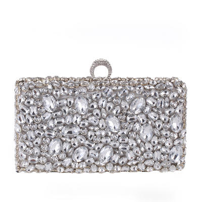 Fashion Handbags Ceremony & Party Crystal/ Rhinestone Clip Closure Gorgeous Clutches & Evening Bags (012187752)