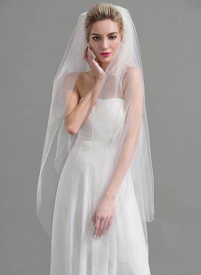 Waltz Bridal Veils Tulle Two-tier Oval With Cut Edge Wedding Veils (006151925)