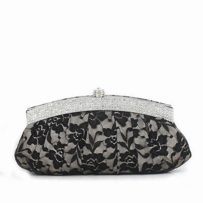 Clutches Wedding/Ceremony & Party Lace Clip Closure Gorgeous Clutches & Evening Bags (012184186)