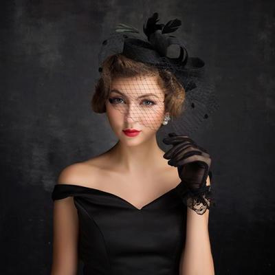 Feather/Net Yarn/Tulle/Linen With Feather Fascinators Eye-catching Ladies' Hats (196194244)