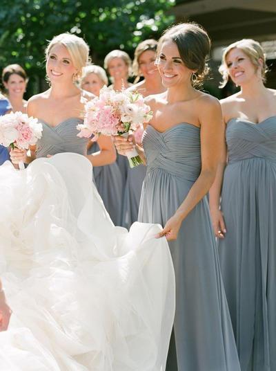 Chiffon Sleeveless A-Line/Princess Bridesmaid Dresses Sweetheart Ruffle Floor-Length (007145132)
