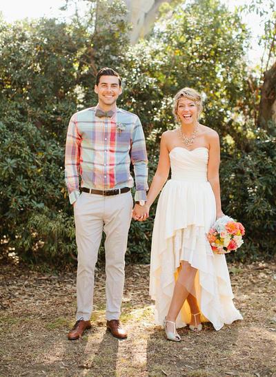 Elegant Asymmetrical A-Line/Princess Wedding Dresses Sweetheart Chiffon Sleeveless (002213469)