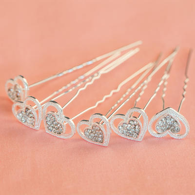 "Hairpins Wedding/Special Occasion/Party Rhinestone/Alloy 2.36""(Approx.6cm) 0.47""(Approx.1.2cm) Headpieces (042154823)"