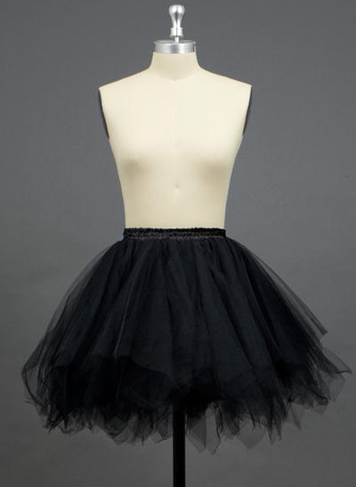 Petticoats Short-length Tulle Netting/Polyester A-Line Slip/Half Slip 3 Tiers Petticoats (037190721)