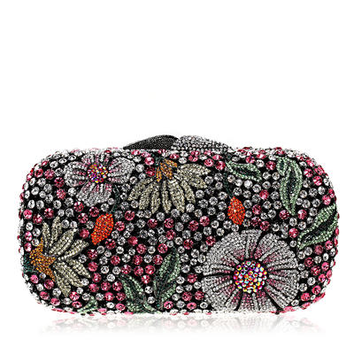 Clutches/Luxury Clutches Wedding/Ceremony & Party Crystal/ Rhinestone Magnetic Closure Unique Clutches & Evening Bags (012185859)