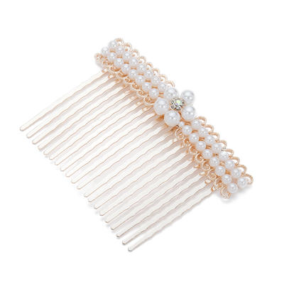 """Combs & Barrettes Wedding/Special Occasion/Party Alloy/Imitation Pearls 3.15""""(Approx.8cm) 2.56""""(Approx.6.5cm) Headpieces (042154300)"""