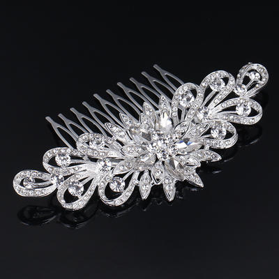 """Combs & Barrettes Wedding/Special Occasion Rhinestone/Alloy 4.33""""(Approx.11cm) 2.36""""(Approx.6cm) Headpieces (042158789)"""