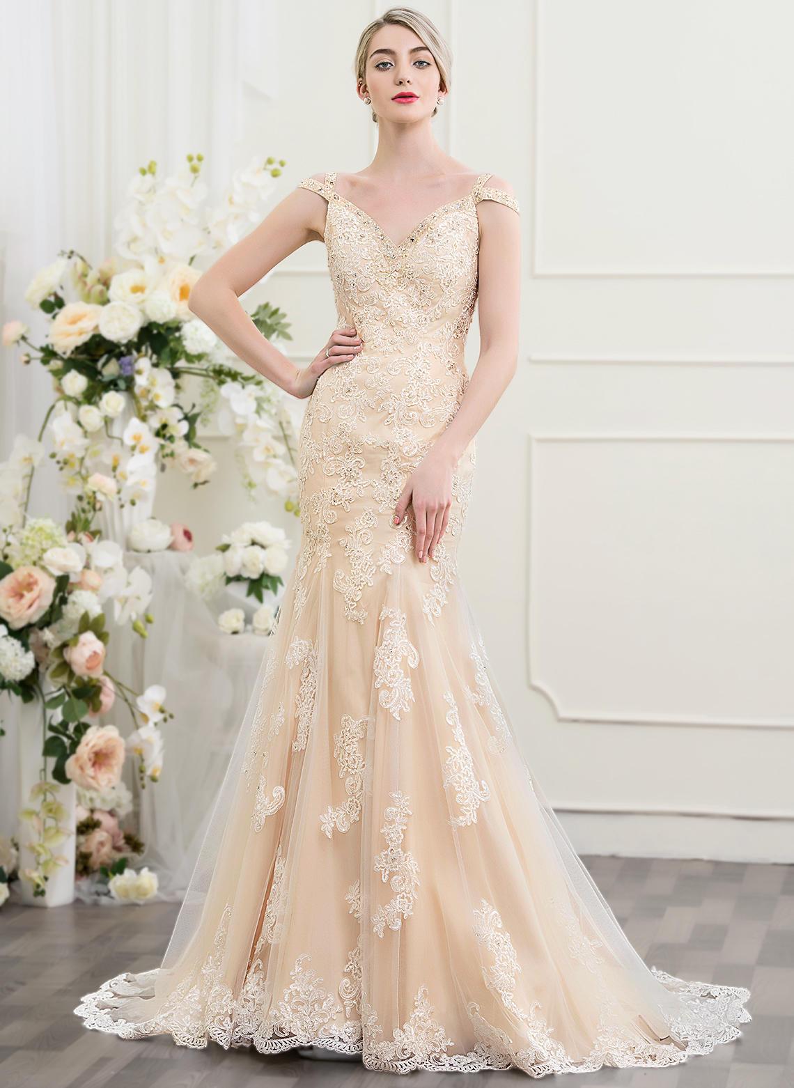 ivory wedding dresses under 100